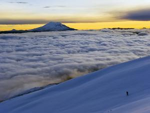 View From Volcan Cotopaxi, 5897M, Highest Active Volcano in the World, Ecuador, South America by Christian Kober