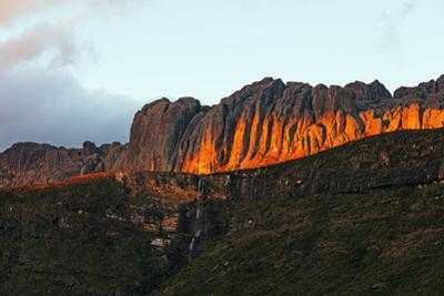 Waterfall at sunrise, Andringitra National Park, Ambalavao, central area, Madagascar, Africa by Christian Kober
