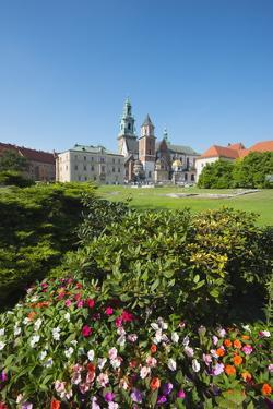 Wawel Hill Castle and Cathedral, UNESCO World Heritage Site, Krakow, Malopolska, Poland, Europe by Christian Kober