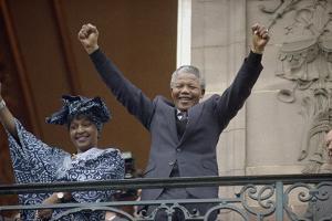 Nelson Mandela in France in 1990 by Christian Lutz