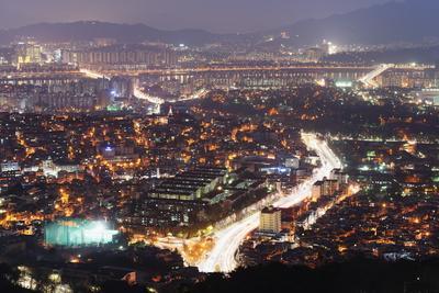 Night View of City, Seoul, South Korea, Asia