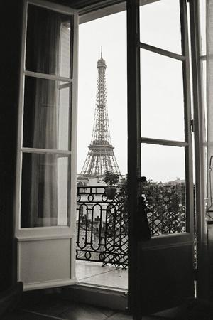 Eiffel Tower through French Doors