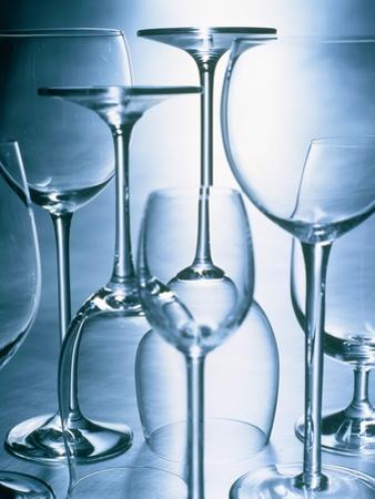 Still life of different wine glasses