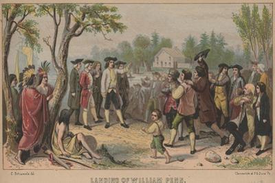 Landing of William Penn, 1852 by Christian Schuessele