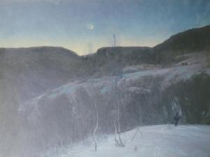 February Evening, 1895 by Christian Skredsvig