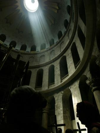 Christian Worshippers Attend Orthodox Good Friday Procession at Church of Holy Sepulchre