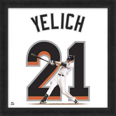 Christian Yelich, Marlins Framed photographic representation of the player's jersey