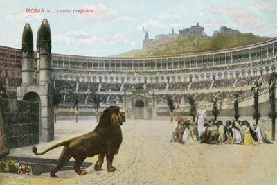 Christians vs. Lions, Roman Coliseum