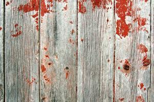 Red Rustic Barn Wood Background by Christin Lola