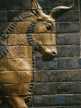 Babylonian Wall Tiles, Babylon, Iraq, Middle East