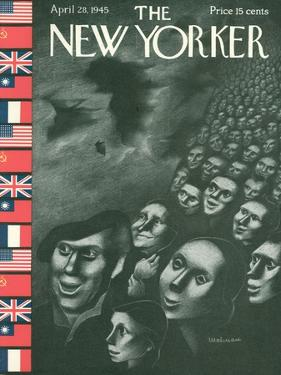 The New Yorker Cover - April 28, 1945 by Christina Malman
