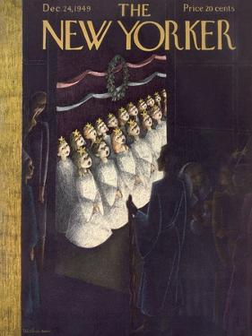 The New Yorker Cover - December 24, 1949 by Christina Malman
