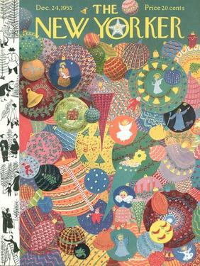 The New Yorker Cover - December 24, 1955 by Christina Malman