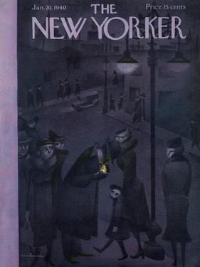 The New Yorker Cover - January 20, 1940 by Christina Malman
