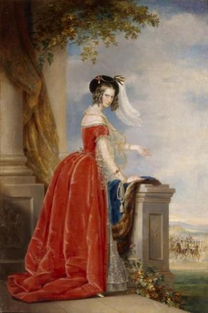 Portrait of Empress Alexandra Fyodorovna (Charlotte of Prussi), Emperor's Nicholas I Wife
