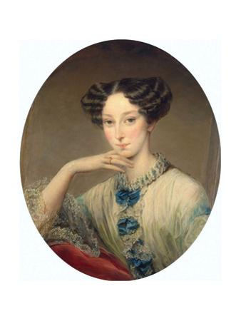 Portrait of Grand Duchess Maria Alexandrovna (1824-188), C1850
