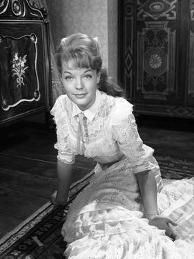 CHRISTINE, 1958 directed by PIERRE GASPARD-HUIT Romy Schneider (b/w photo)