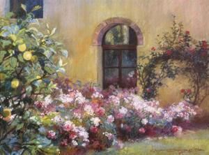 Tuscan Lemons And Pink by Christine Debrosky