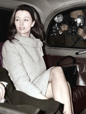 Christine Keeler Arriving at the Old Bailey, London, 1963