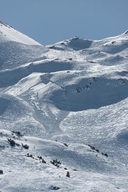 Austria, Lech am Arlberg, Madloch, skiing area, by Christine Meder stage-art.de