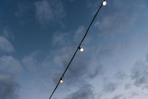 Chain of lights, blue hour by Christine Meder stage-art.de