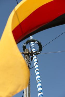 Germany flag and maypole, detail, by Christine Meder stage-art.de