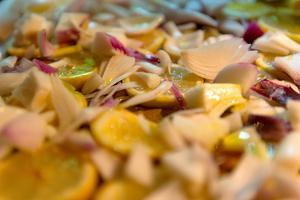Lemons and onions, marinade, lemon, onions in oil by Christine Meder stage-art.de