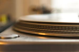 Record on record player in detail by Christine Meder stage-art.de