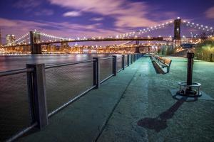 Brooklyn Bridge at Dusk by Christine Wehrmeier