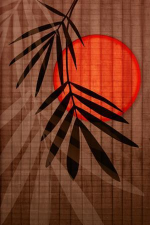 Bamboo and Red Sun I by Christine Zalewski
