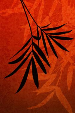 Bamboo Shade on Red I by Christine Zalewski