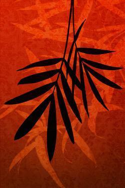 Bamboo Shade on Red II by Christine Zalewski