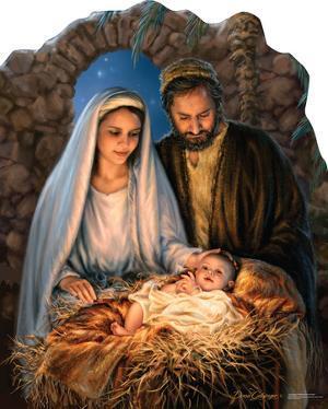 Christmas Nativity - By Dona Gelsinger Lifesize Cardboard Cutout
