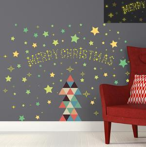 Christmas Triangle & Glow in the Dark Stars