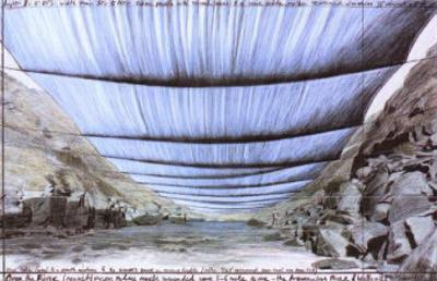 Over the River IV: Underneath by Christo