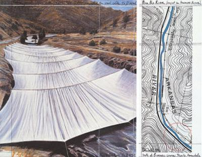 Over the River VII: Above by Christo