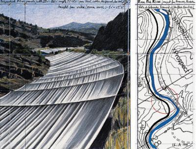 Over The River XI: Project for Arkansas River by Christo