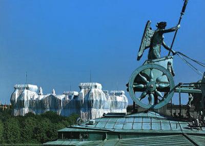 Reichstag vom Dach d. Brandenburger Tors