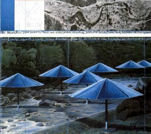 The Blue Umbrellas, 1991 by Christo