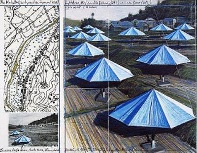 The Blue Umbrellas II by Christo