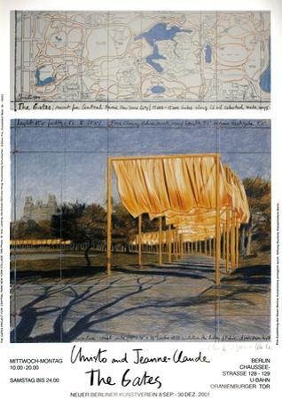 The Gates Project for Central Park New York Collage by Christo