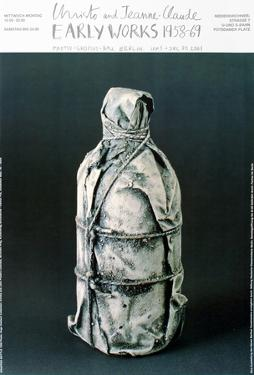 Wrapped Bottle, 1958 by Christo