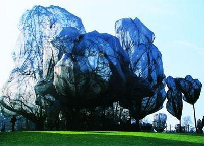 Wrapped Trees Nr. 14 (Riehen) by Christo