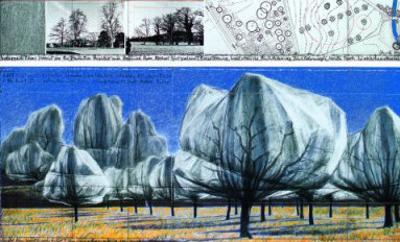 Wrapped Trees VI by Christo