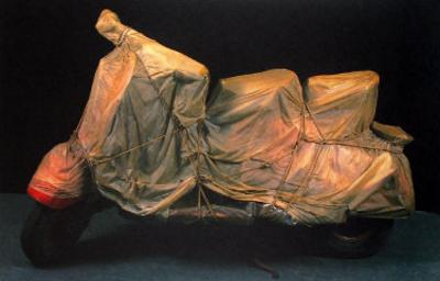Wrapped Vespa by Christo