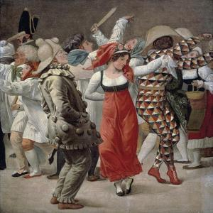 Carnival in Rome, 1828 by Christoffer Wilhelm Eckersberg