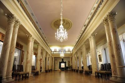 Latvia. Riga. Museum of History and Navigation. the Column Room