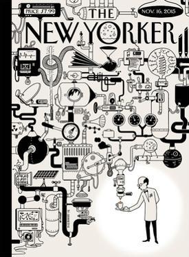 The New Yorker Cover - November 16, 2015 by Christoph Niemann