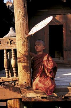 Temple Scene Burma by Christophe Boisvieux