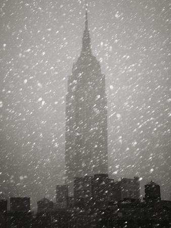 Snowfall in New York City by Christopher C Collins